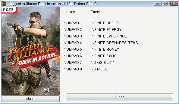 20120809123111 Jagged Alliance: Back in Action [1.13e] +8 Trainer [GRIZZLY]
