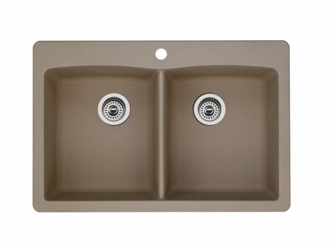 Blanco 441285 diamond equal double bowl silgranit ii sink for Silgranit ii sinks
