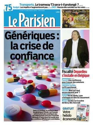 Le Parisien et Suppléments du Lundi 10 décembre 2012