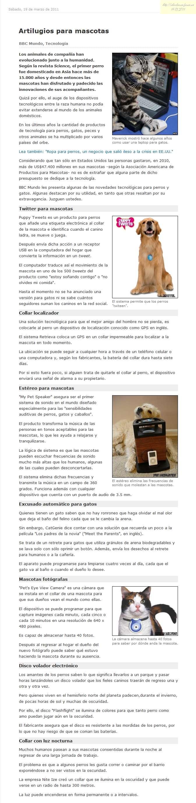 Nuestras mascotas novedades para ellos p gina 48 - Novedades para mascotas ...