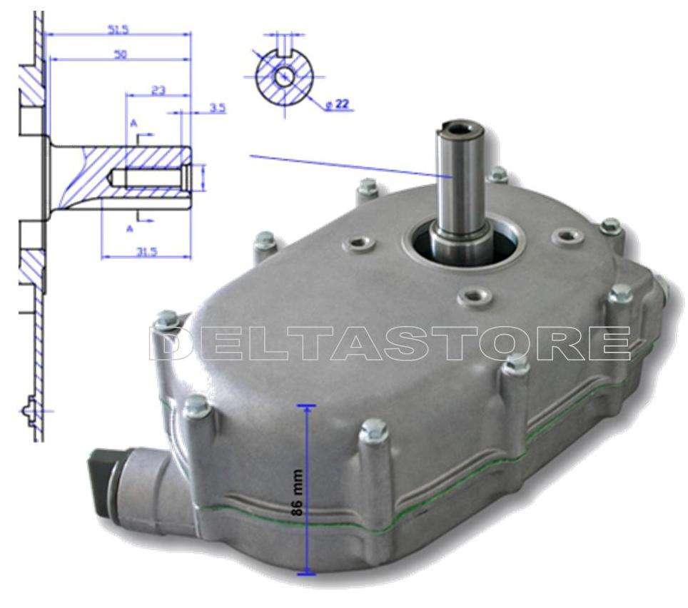 Frizione riduttore a bagno d 39 olio tipo gx160 gx200 - Frizione a bagno d olio ...