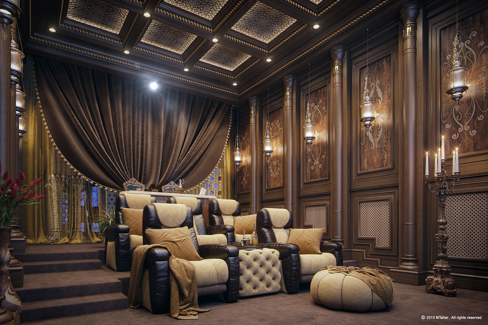 3d home theater interior decoration home theater decoration